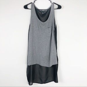 Forever 21 Gray High Low Tank Top Size Small